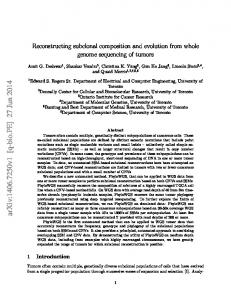 Reconstructing subclonal composition and evolution from whole ...