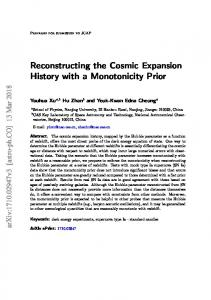 Reconstructing the Cosmic Expansion History with a