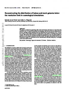 Reconstructing the distribution of haloes and mock galaxies below the ...