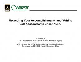 Recording Your Accomplishments and Writing Self Assessments ...