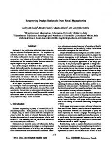 Recovering Design Rationale from Email Repositories - IEEE Xplore