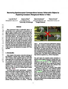 Recovering Spatiotemporal Correspondence between Deformable ...