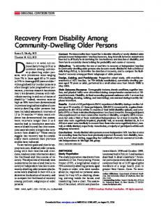 Recovery From Disability Among Community-Dwelling Older Persons