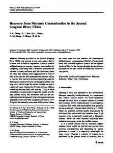 Recovery from Mercury Contamination in the Second ... - Springer Link