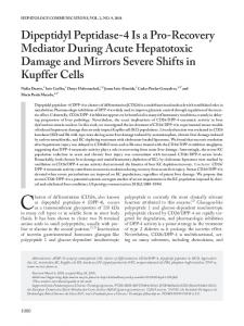 Recovery Mediator During Acute Hepatotoxic