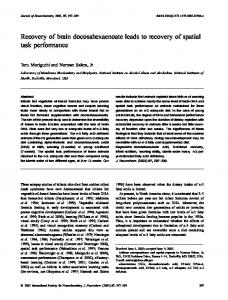 Recovery of brain docosahexaenoate leads to ... - Wiley Online Library