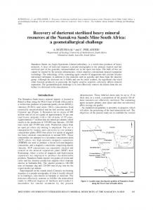 Recovery of duricrust sterilized heavy mineral resources at ... - SAIMM