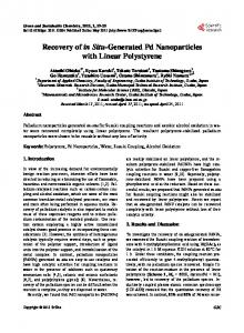 Recovery of in Situ-Generated Pd Nanoparticles with