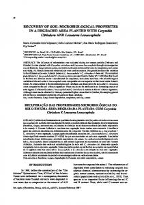 RECOVERY OF SOIL MICROBIOLOGICAL PROPERTIES IN ... - SciELO
