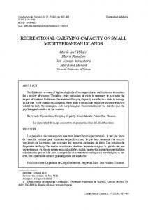 recreational carrying capacity on small mediterranean islands
