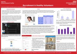 Recruitment in Healthy Volunteers