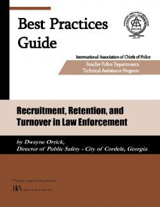Recruitment, Retention, and Turnover in Law Enforcement