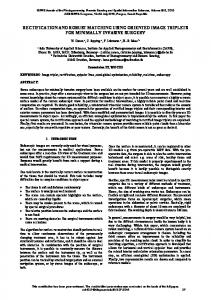 rectification and robust matching using oriented image ... - ISPRS Annals