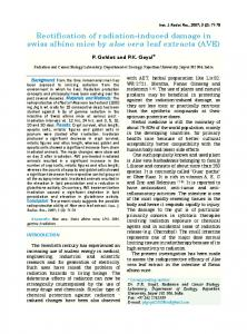 Rectification of radiation-induced damage in Swiss