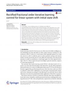Rectified fractional order iterative learning control ... - Semantic Scholar