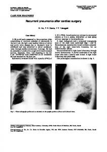Recurrent pneumonia after cardiac surgery - Semantic Scholar