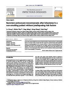 Recurrent pulmonary mucormycosis after ... - Semantic Scholar