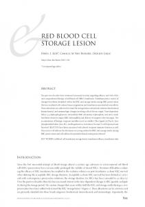 red blood cell storage lesion - Semantic Scholar