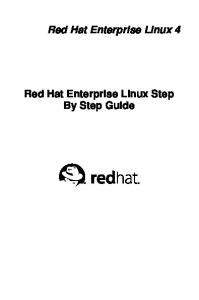 Red Hat Enterprise Linux Step By Step Guide