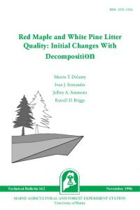 Red Maple and White Pine Litter Quality: Initial Changes ... - CiteSeerX