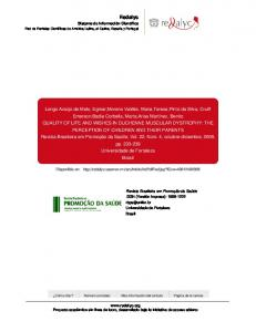 Redalyc.QUALITY OF LIFE AND WISHES IN DUCHENNE