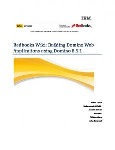 Redbook Wiki: Best Practices for Developing Web Applications - Lotus