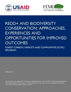 redd+ and biodiversity conservation: approaches ... - The REDD Desk