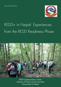 REDD+ in Nepal: Experiences from the REDD