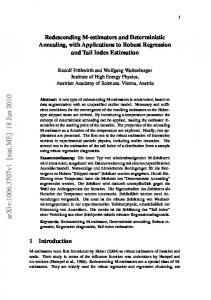 Redescending M-estimators and Deterministic Annealing, with ...