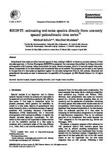 REDFIT: Estimating red-noise spectra directly ... - Manfred Mudelsee