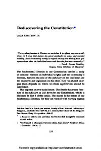 Rediscovering the Constitution