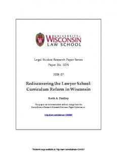 Rediscovering the Lawyer School: Curriculum Reform ... - SSRN papers