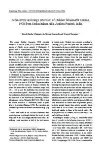 Rediscovery and range extension of Coluber ... - Herpetology Notes
