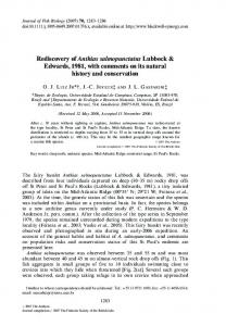 Rediscovery of Anthias salmopunctatus Lubbock ... - CiteSeerX