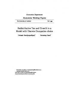 Redistributive Tax and Growth in a Model with Discrete Occupation ...
