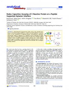 Redox Capacitive Assaying of C-Reactive Protein at a Peptide
