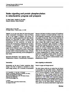 Redox signaling and protein phosphorylation in ... - Springer Link