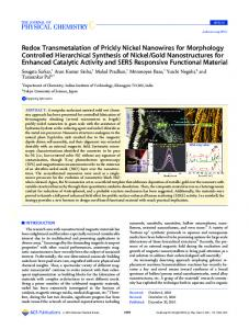 Redox Transmetalation of Prickly Nickel ... - ACS Publications