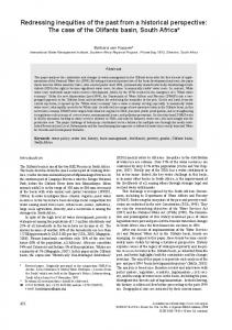 Redressing inequities of the past from a historical perspective: The ...