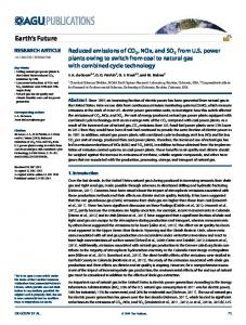 Reduced emissions of CO2, NOx, and SO2 from ... - Wiley Online Library