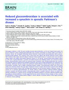 Reduced glucocerebrosidase is associated with ... - Oxford Journals