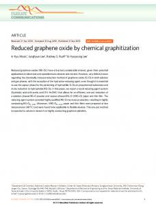 Reduced graphene oxide by chemical graphitization - TMI ...