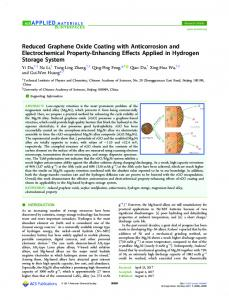 Reduced Graphene Oxide Coating with Anticorrosion and