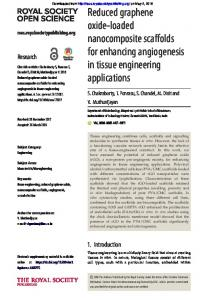 Reduced graphene oxide-loaded nanocomposite scaffolds for ...