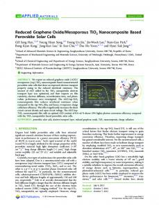 Reduced Graphene Oxide/Mesoporous TiO2 ... - ACS Publications