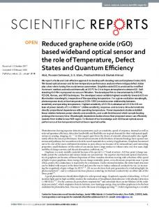 Reduced graphene oxide (rGO) based wideband