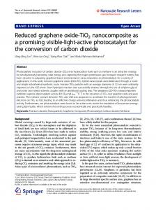 Reduced graphene oxide-TiO2 nanocomposite as a promising ... - Core