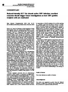 Reduced-intensity SCT for chronic active EBV infection - Nature