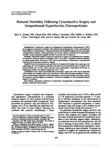 Reduced Morbidity Following Cytoreductive Surgery ... - Springer Link