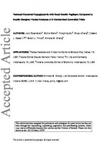 Reduced Nocturnal Hypoglycemia with Basal ... - Wiley Online Library